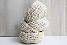 Crochet bowls and baskets