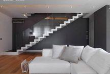 Escalera hierro blanco