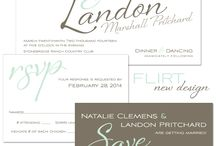 Invite Designs 13 / Unique wedding invitation designs from The Green Kangaroo in 2013! / by The Green Kangaroo, Inc.