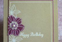 SU Flower Cards / Karten mit Blumen von Stampin' UP!