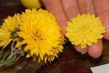 Цветы лепка