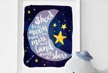 Starry Dark Blue Baby Boy Nursery / Starry Baby Boy Nursery Decor Ideas and Inspiration with Dark Blues or Navy Blue #boysnursery #nurseryforboys #babyboynursery #starrynursery #starnursery #darkbluenursery #navybluenursery