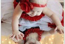 joulukortti vauvakuva