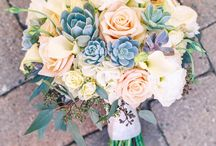 Succulent and flower bouquets