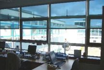 Solar Shade Blinds / Sun-X Solar Shade Blinds are an ideal alternative to permanently installed solar control film for the workplace environment. They provide privacy and a high degree of solar control, rejecting heat and glare only when required, without blocking the view, and can be rolled up in lower lighting conditions.