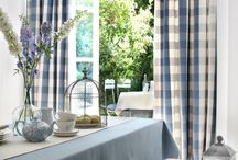 Country Linens / This beautiful collection of soft, woven linens comprises four simple, yet chic patterns, resulting in a relaxed country style. These multi purpose fabrics are available in classic neutral shades of Ivory, Linen and Charcoal through to bolder shades of Damson, Citrus and Aqua.