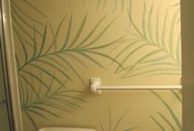 Foliage / Foliage works from my mural paintings
