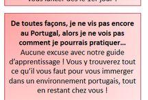 Je pratique tout de suite en portugais européen avec Vocabulaire du Portugal / « Je pratique tout de suite » : découvrez des astuces et les éléments nécessaires pour créer l'immersion, comme au Portugal, depuis chez vous, relevez le défi pour enfin parler en portugais.