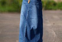 Юбка джинс макси
