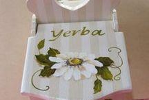 yerbera, cajas fáciles de pintar