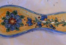 Poggiacucchiaio in ceramica