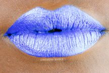 Lip glitter art / Fun lip glitter galore