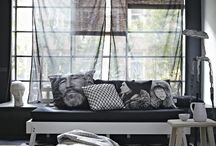 interieur / zwart/wit interieur looks