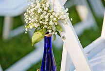 Kobaltowe wesele / dekoracje, inspiracje ślubne