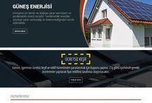 Enerji Sektörü Tasarımları / Web Tasarımı