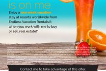 Let me cover your next vacation / Let me cover your next vacation when you buy or sell your home with me.