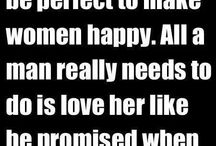 How man has to love woman