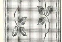 Centros e trilhos de crochê