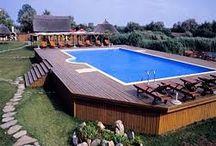 Pools in sloped back yards