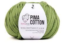 PIMA COTTON / Extraordinary softness, delicate lustre, resistance to wear and pilling are the result of the fertile climate of Peru where it is grown.  It's the best cotton in the world and its outstanding quality make it perfect for your precious knitting.  •Recommended needles: 4 - 5 mm and more •Composition: 100% Peruvian Pima Cotton •Packaging: 100 gr balls •212 mt / 232 yd