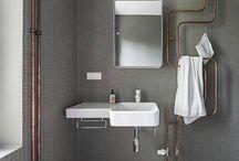 attic bathroom ideas / by Sophie Dobson