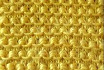 puntos  a palillos y crochet
