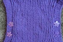 Knitting things.