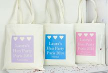 Personalised Wedding Bag's / PERSONALISED BRIDESMAID AND FLOWER GIRL BAG'S. THESE ARE PERFECT TO GIVE TO YOUR GIRL'S AS A GIFT WITH A LITTLE PRESENT INSIDE. GREAT FOR HEN PARTIES TO KEEP ALL YOUR PARTY ACCESSORIES IN ONE PLACE, AS WELL AS MAKING A LOVELY KEEPSAKE FOR YOUR GIRL/S.