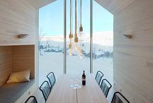 nordisk arkitektur / Alt som har med bygninger og alt som er inni hus og bygninger, ikke lamper å sånne type ting men selve rommet.