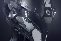 Cool futuristic helmet stuff