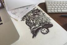 Doodles / Biro art