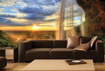 Декор стены за диваном, кроватью