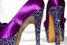 Purple foot fashion / Purple foot wear / by AJ