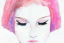 Watercolor Fashion Illustration,