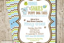 Frogs and Snails Baby Shower Ideas