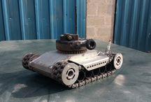 metal art army tank