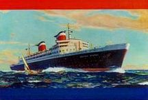 The High Seas / Vintage posters and adverts celebrating travel on the open water, ships, and sailing throughout time.