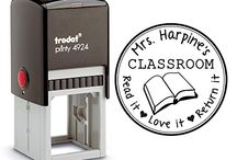 Teacher Self Inking Stamps / Self inking stamps for the classroom from the library of this book belongs too  teacher appreciation gift from the classroom of please return read it love it return it  custom personalized unique gifts
