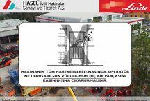 Dar Koridor Forklifti Operatörleri İçin İlave Kurallar / Dar Koridor Forklifti Operatörleri İçin İlave Kurallar.Önce İş Güvenliği!