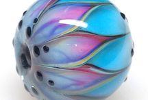 Perles en verre filé au chalumeau