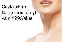 Ystävänpäivätarjoukset / Cityklinikan Botox- ja täyteainehoidot saat nyt ystävänpäivähintaan!  Kiinteämpi iho, rypyt pois, huuliin täyteläisyyttä - kevät on tulossa!