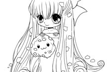 Cute fairy girl coloring