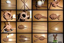 papírové pletení / papírové pletení