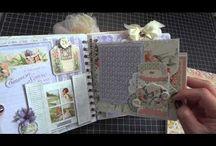 ALBUMS G45 SECRET GARDEN layouts cards etc