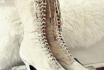 Victoriaanse, vintage kleding, laarsjes en schoenen