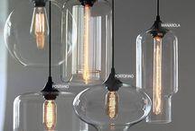 Glass pendant lights