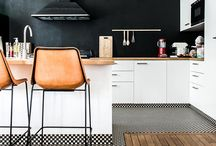 modern kitchen ideas / Set an inspired kitchen table, bar or island with our modern kitchen ideas. Find kitchen inspiration ranging from wall shelving and organization to overhead lighting to tables, chairs and other furniture.
