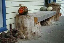 Băncuțe de lemn