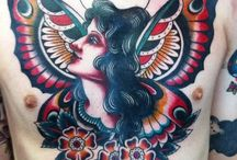 Beauty woman tattoos
