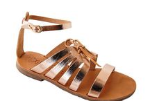 my lovely sandals #leathersandals #genuineleather / Handmade leather sandals from Greece